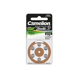 BOTON AUDIFONO A312/MARRON 0% MERCURIO (6 PCS) CAMELION - 15056312