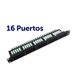 "Panel Parcheo CROMAD 16P Krone 19"" UTP CAT 6 - CR0539"