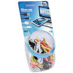 PACK 35 CABLES MICRO USB COLORES CROMAD - CR0904