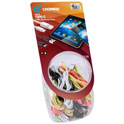 PACK 35 CABLES TIPO C COLORES CROMAD - CR0905