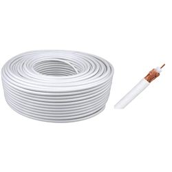 ROLLO CABLE TV COAXIAL 100 METROS BLANCO COBRE (EMCTVCO) - 960091